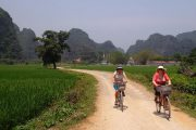 Family cycling Hue and Hoi An