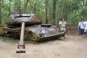 Cu Chi tunnels by speedboat